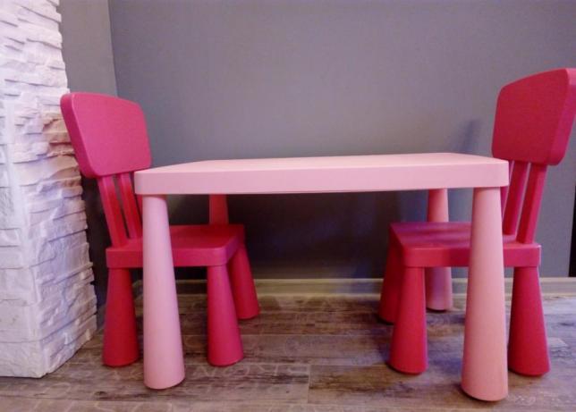 2x Krzesełko Stolik Mammut Dla Dziecka Kończyce Małe