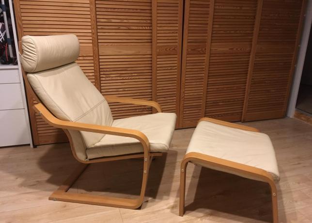 Fotel I Podnóżek Ikea Poang Cieszyn