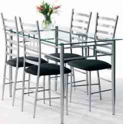 Stół Szklany Jysk Milan 4 Krzesła Skoczów