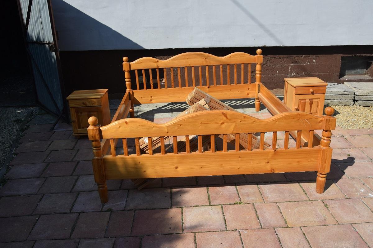 Sprzedam łóżko Drewniane 2 Osobowe