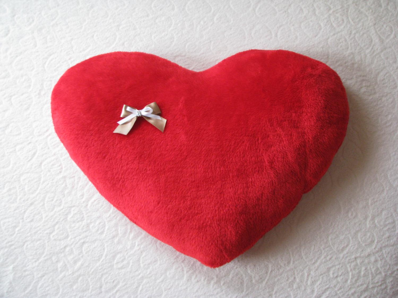 Poduszka Serce Na Walentynki Pluszowa Przytulanka 60x40cm